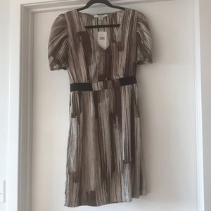 Max and Cleo Taupe Satin Dress - Size S